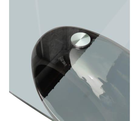 vidaXL Kavos staliukas su ovaliu stikliniu stalviršiu, ypač blizgus, juodas[5/6]