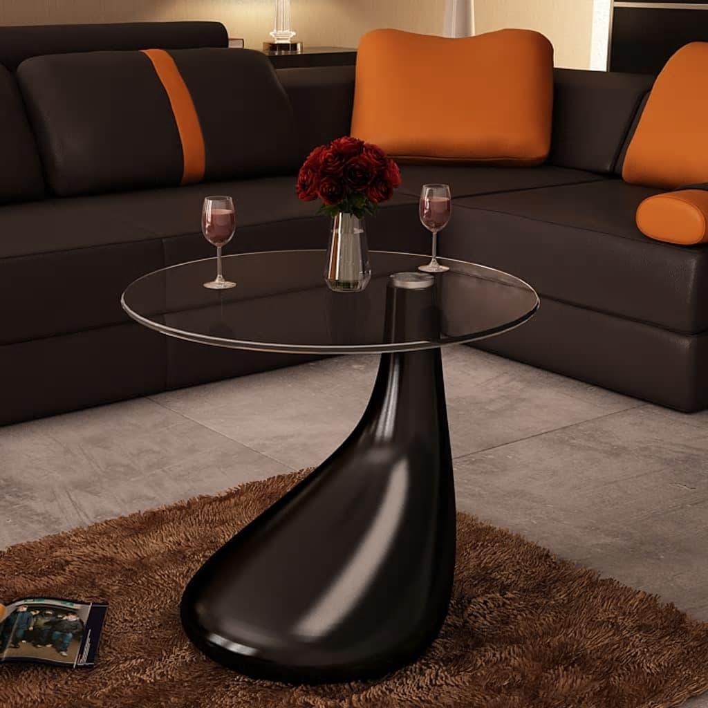 Supermoderní konferenční stolek se skleněnou deskou