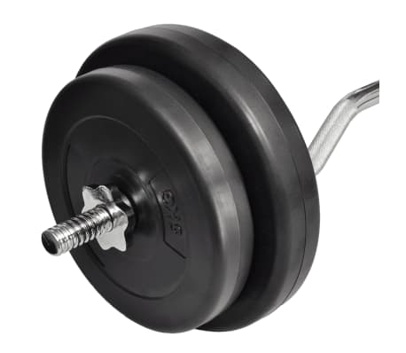 Curl Bar with Weights 30kg[3/4]