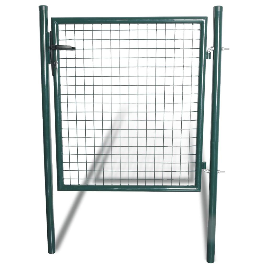 Ocelová vrata zelená