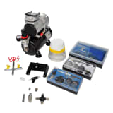"vidaXL Airbrush Compressor Set with 3 Pistols 12.2""x5.9""x12.2"""