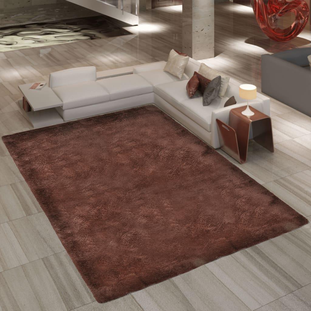 Chlupatý koberec Shaggy 200 x 290 cm, celková váha 2600 g/m² hnědý