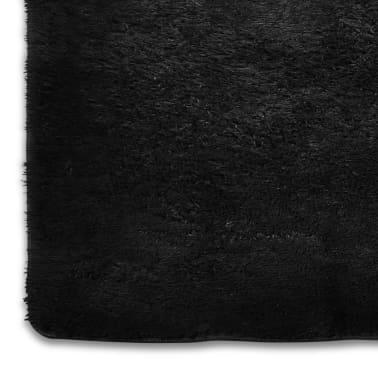 tapis poils long touffu noir 200 x 290 cm 2600g m2. Black Bedroom Furniture Sets. Home Design Ideas