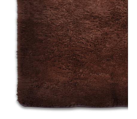 acheter tapis poils long touffu marron 160 x 230 cm 2600g m2 pas cher. Black Bedroom Furniture Sets. Home Design Ideas