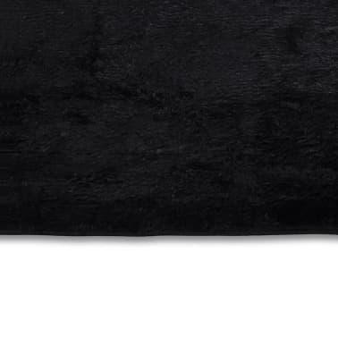 Alfombra Shaggy Negra 160 X 230 Cm 2600gr M2