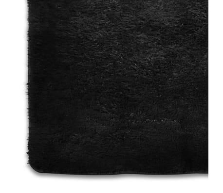 acheter tapis poils long touffu noir 120 x 170 cm 2600g m2 pas cher. Black Bedroom Furniture Sets. Home Design Ideas
