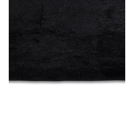 tapis poils long touffu noir 120 x 170 cm 2600g m2. Black Bedroom Furniture Sets. Home Design Ideas
