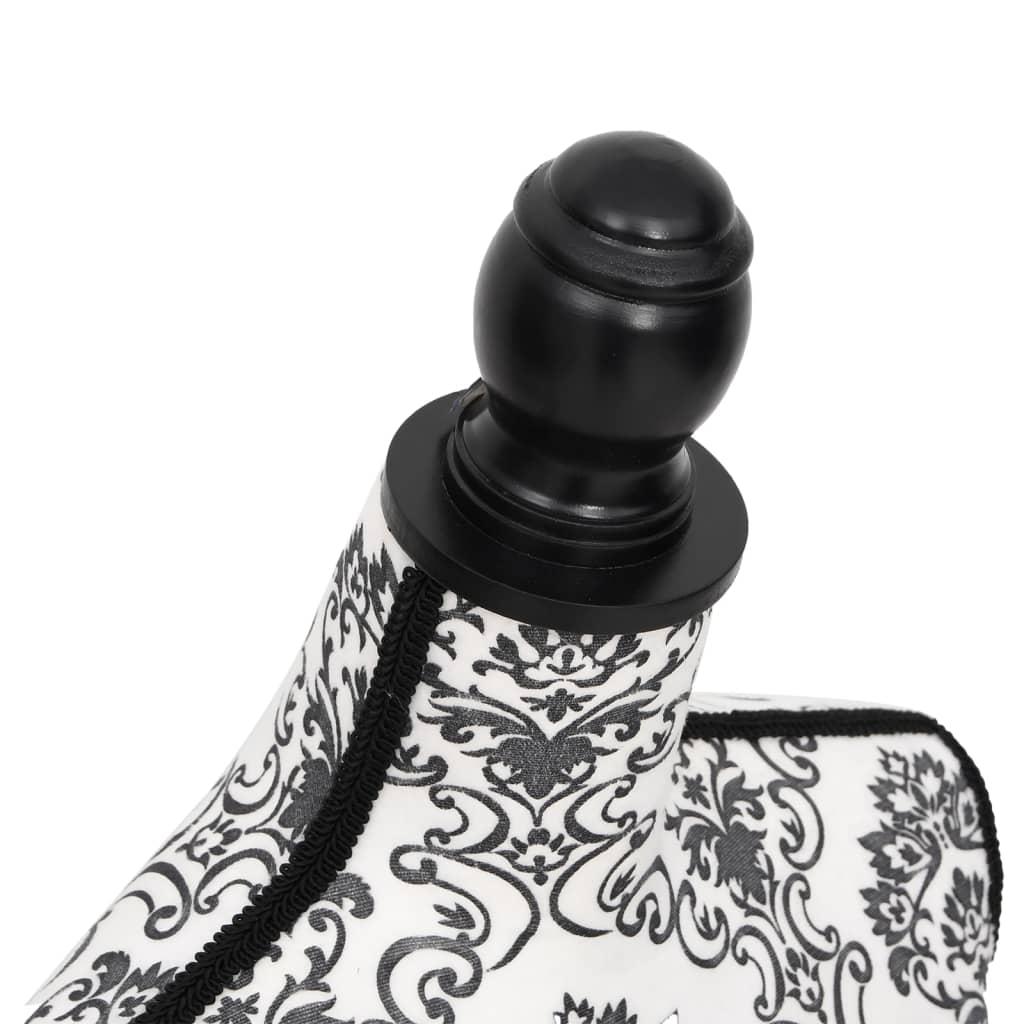 vidaXL Etalagepop torso vrouw zwart wit