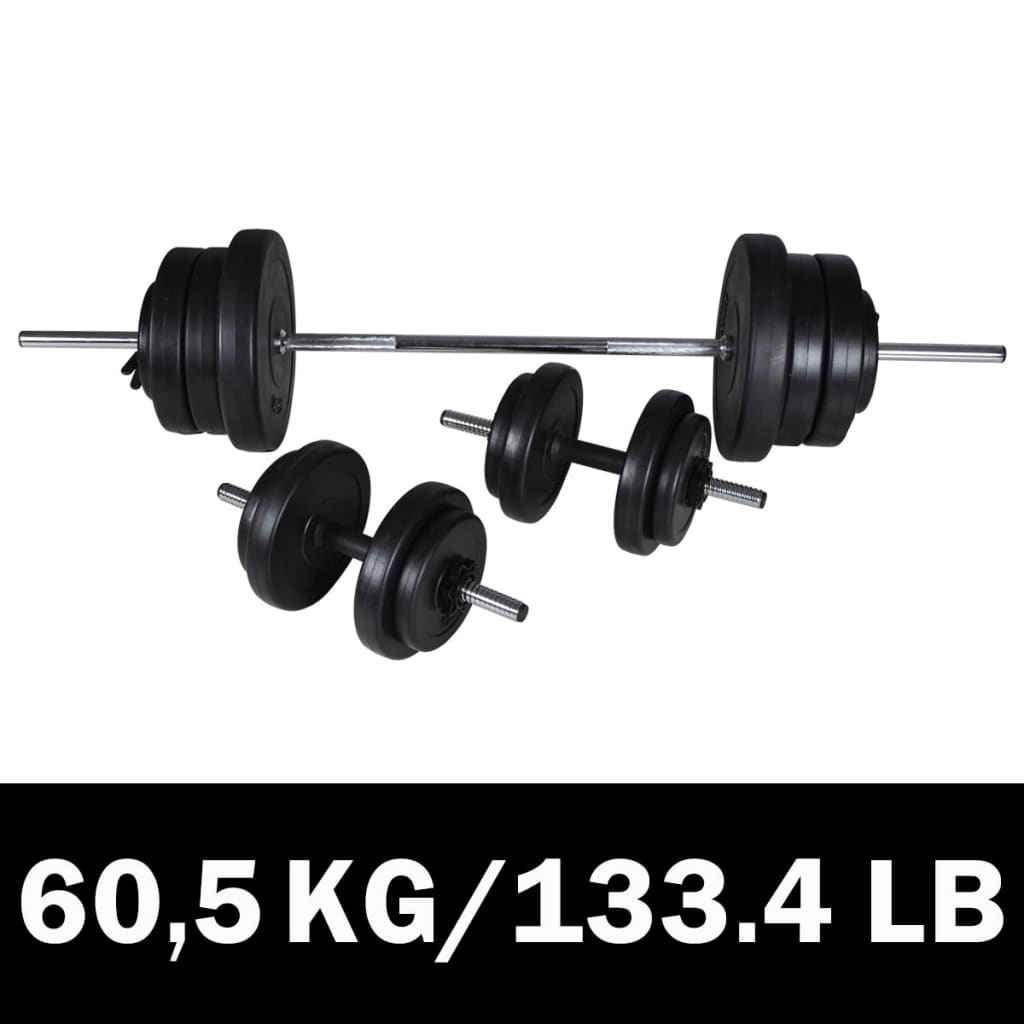 Barbell-Dumbbell set 60,5kg