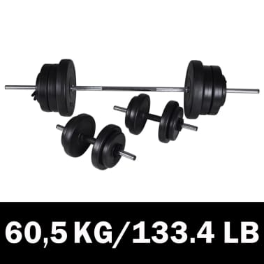 Barbell + 2 Dumbbell Set 60.5kg[1/4]