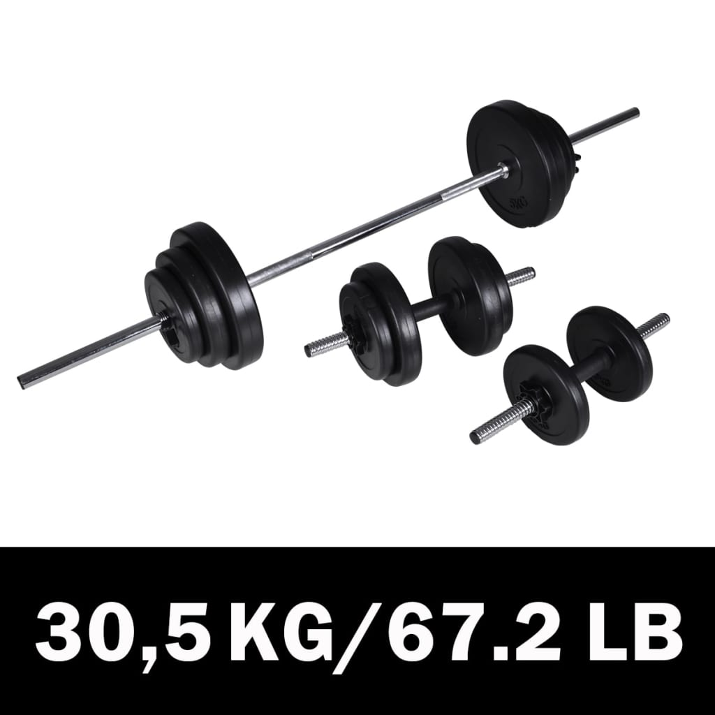 Barbell-dumbbell set 30,5kg