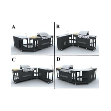 vidaXL gáz grillező 4+1 főzőfelülettel[6/7]