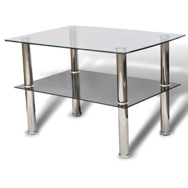 vidaXL Konferenční stolek sklo, 2 patra[2/5]