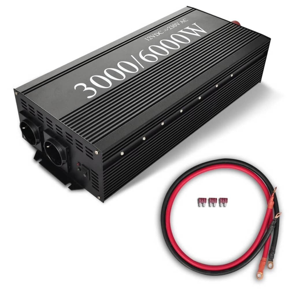 Transformator 3000 6000 Watt Negru poza 2021 vidaXL