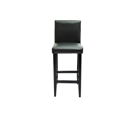 vidaXL Baro kėdės, 6 vnt., dirbtinė oda, juodos[3/5]