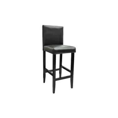 vidaXL Baro kėdės, 6 vnt., dirbtinė oda, juodos[4/5]