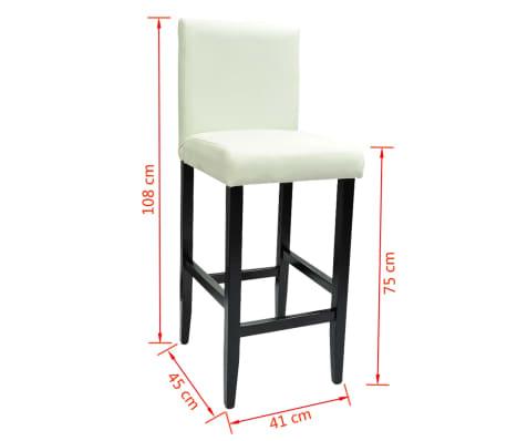 Barstühle Weiß vidaxl barstühle 6 stk kunstleder weiß günstig kaufen vidaxl de