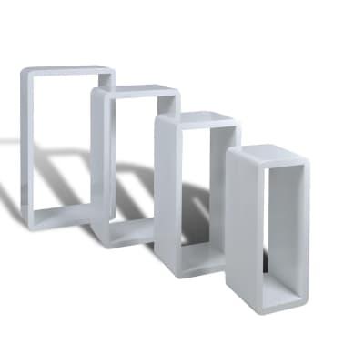 Set 4 rafturi cubice, Alb[2/6]