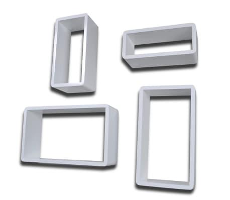 Set 4 rafturi cubice, Alb[4/6]