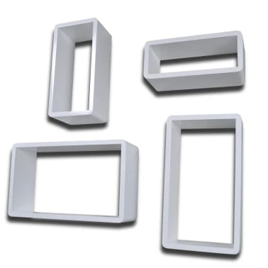 Kocka polc szett 4 darabos Fehér[4/6]
