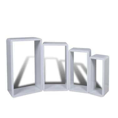 Set 4 rafturi cubice, Alb[5/6]