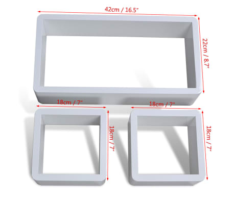 Cuboid shelf set of 3[4/5]