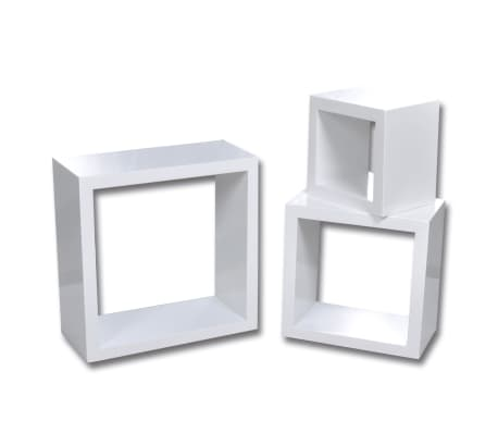 Cube shelf set of 3 white