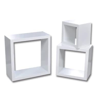 Etagères Design Murale 3 Cubes blanc[2/6]