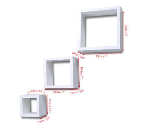 Etagères Design Murale 3 Cubes blanc[6/6]