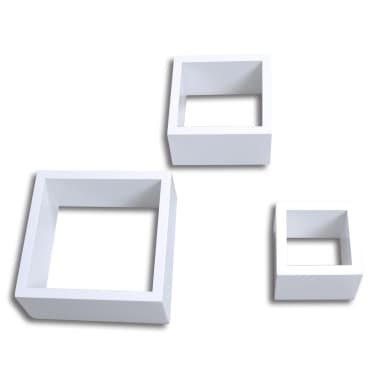 Cube shelf set of 3 white[3/6]