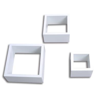 Etagères Design Murale 3 Cubes blanc[3/6]