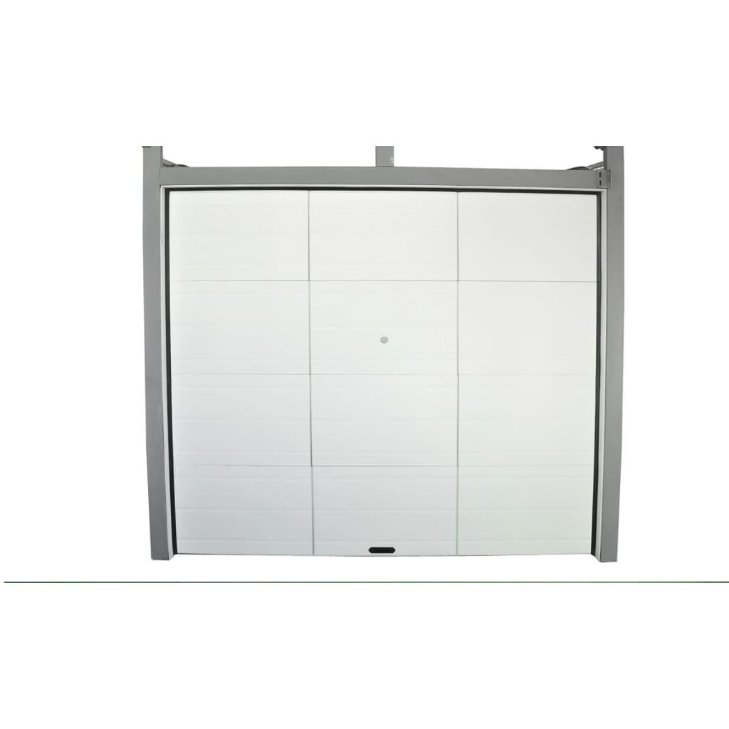 Ușă de garaj secțională gri alb imagine vidaxl.ro
