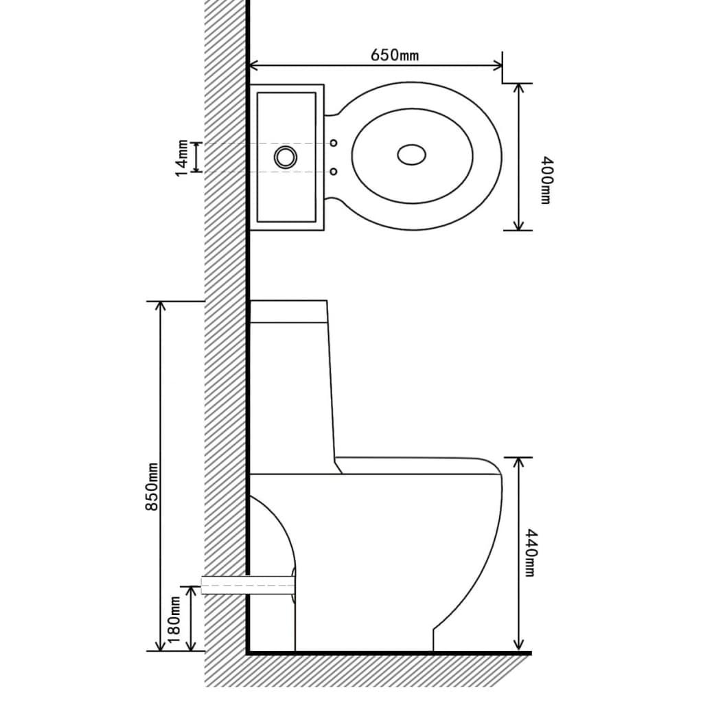 Toilet afvoer achter keramiek zwart