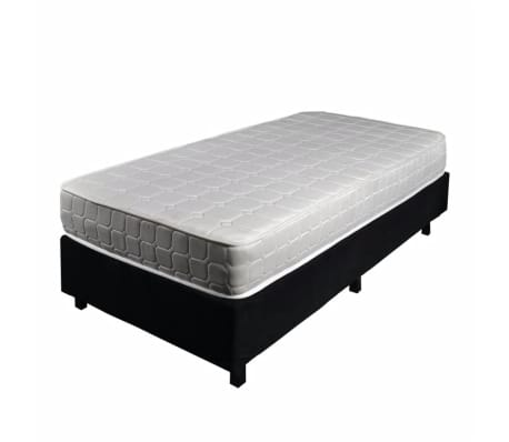 acheter lit boxspring avec capitonn e noir 90 x 200 cm bois mdf pas cher. Black Bedroom Furniture Sets. Home Design Ideas