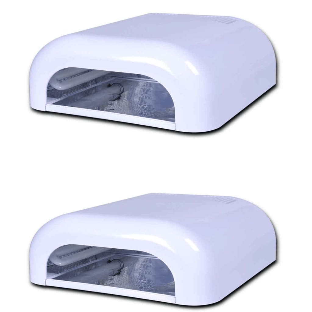 vidaXL 2x 36W UV Gel Curing Lamp Light Nail Dryer( 8 x 9W UV)