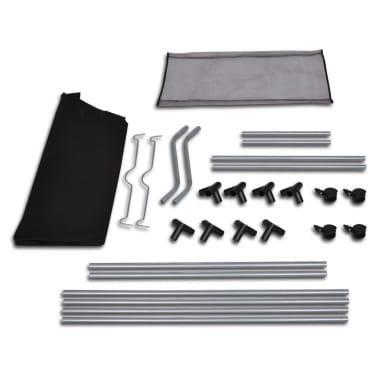 vidaXL Tvättsorterare med 4 påsar svart grå[4/4]