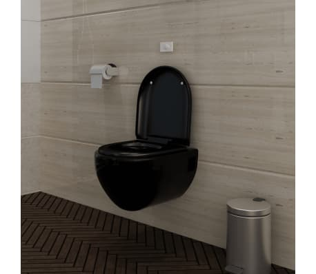 wand h nge wc toilette edle design soft close schwarz neu g nstig kaufen. Black Bedroom Furniture Sets. Home Design Ideas