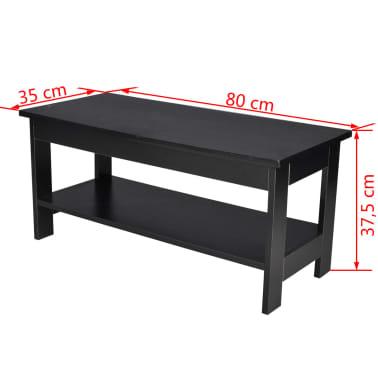 vidaxl couchtisch holz 2 ebenen schwarz g nstig kaufen. Black Bedroom Furniture Sets. Home Design Ideas