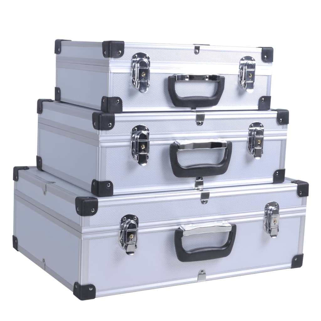 Set cutii aluminiu 3 în 1 pentru unelte poza vidaxl.ro