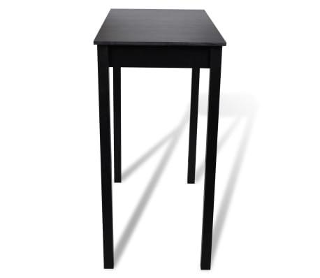 vidaXL Baro stalas, MDF, juodas, 115x55x107 cm[2/4]
