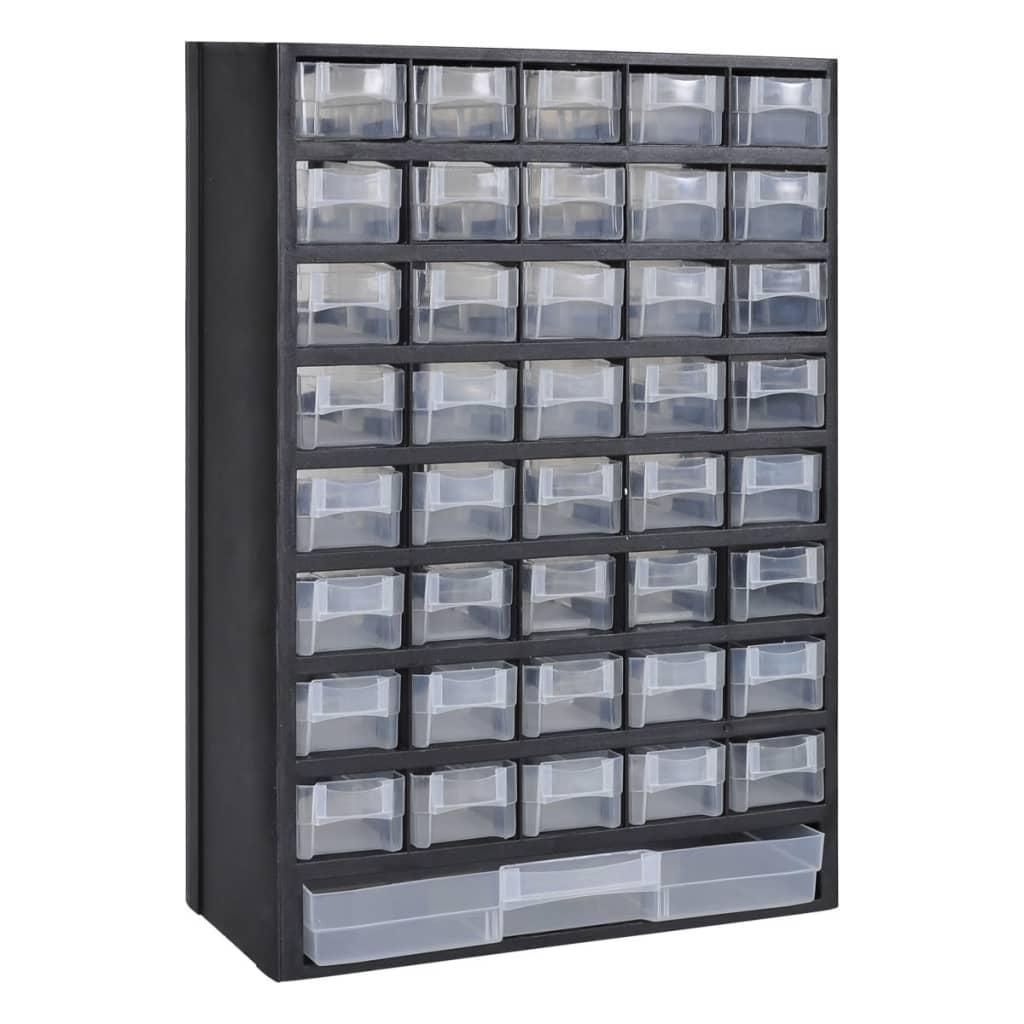 vidaXL Úložný plastový box na nářadí 41 zásuvek