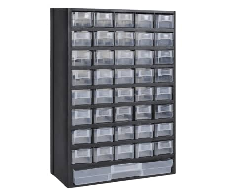 vidaXL 41-Drawer Plastic Storage Cabinet Tool Box[1/3]