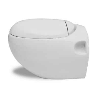 vidaXL Toaleta wisząca o oryginalnej formie jaja, biała[3/6]