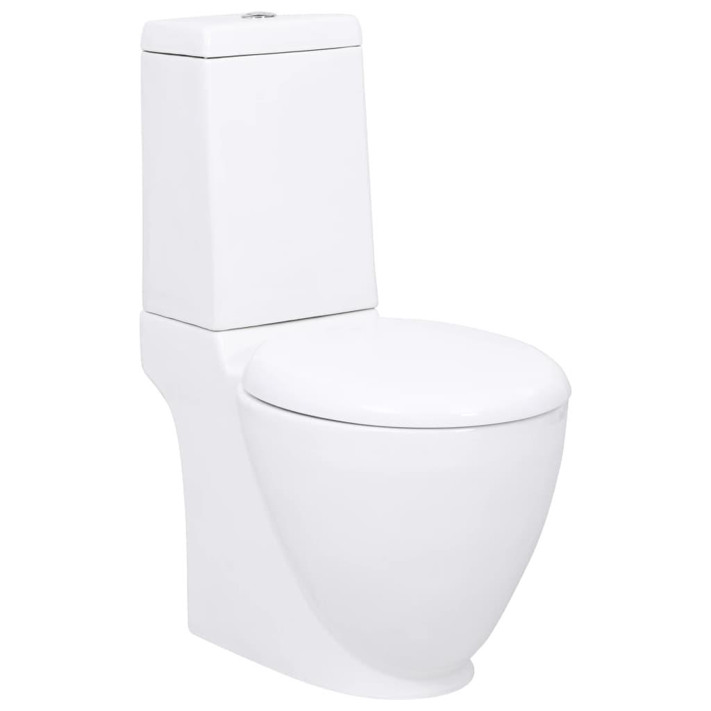 WC bílé keramické čtvercového speciálního designu
