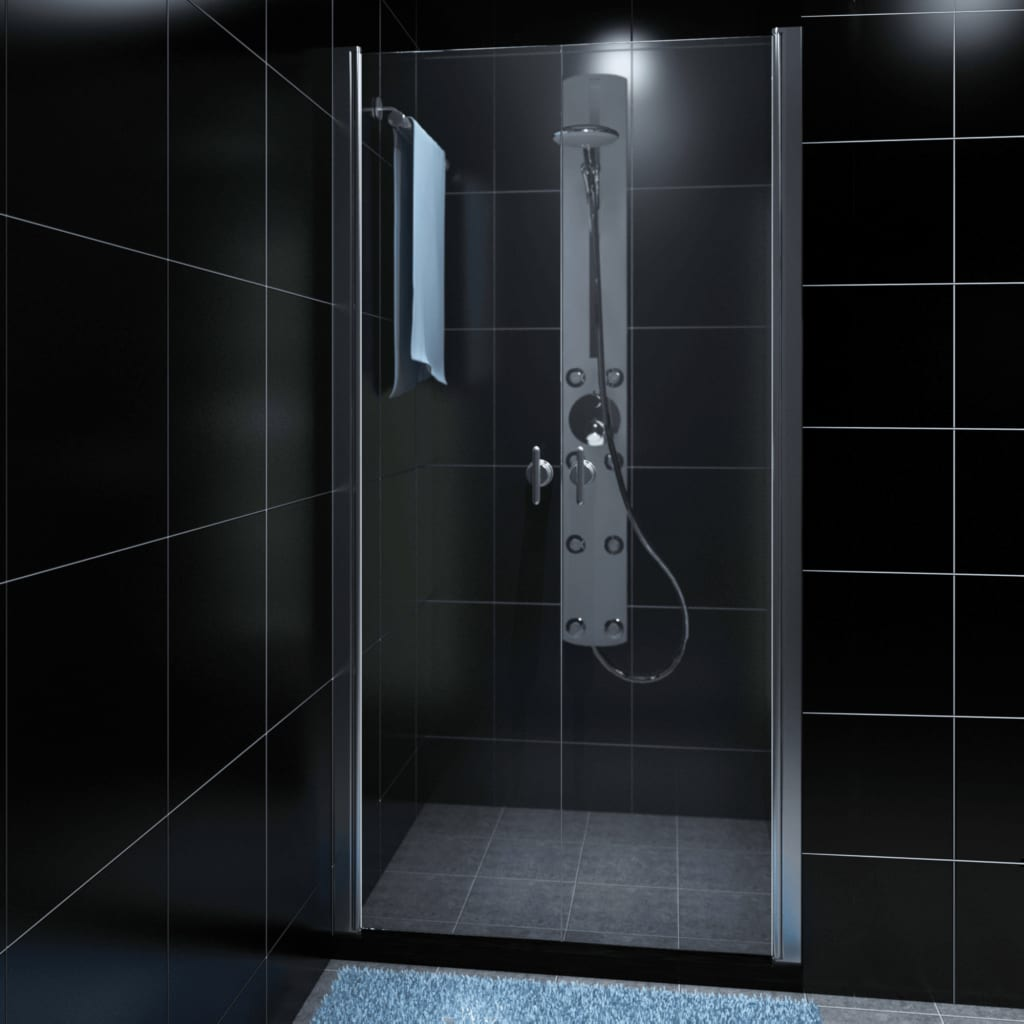 vidaXL Shower Enclosure Glass Door 100 cm