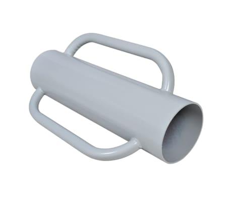vidaXL Suport pentru stâlp de gard cu mânere, oțel