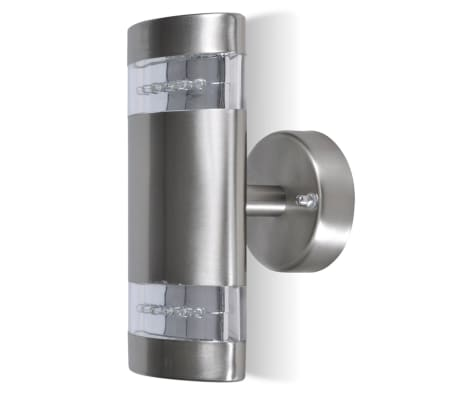 LED Wall Light Lamp Indoor & Outdoor Stainless Steel[2/5]