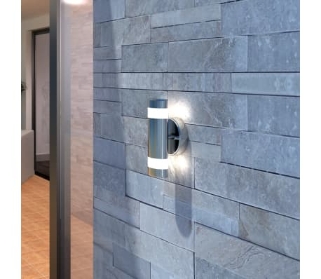 LED Wall Light Lamp Indoor & Outdoor Stainless Steel[1/5]