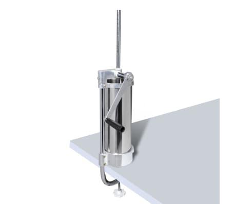 Wurstspritze Wurstfüllmaschine Edelstahl manuell 3,5L[4/6]