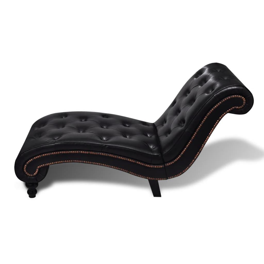 vidaXL Chaise longue kunstleer bruin
